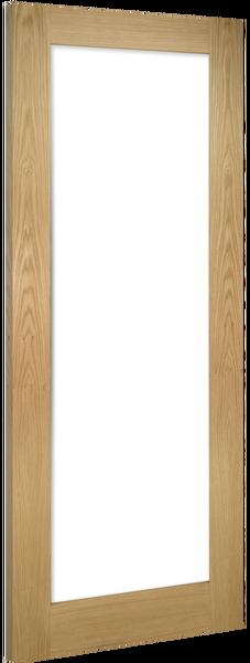 Deanta Unfinished Oak Walden Clear Glazed Door